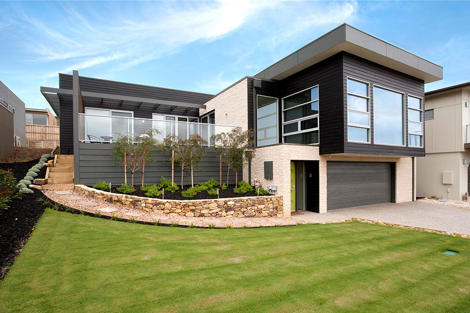 Sloping block house designs geelong split level house design for Building a garage on a sloped lot