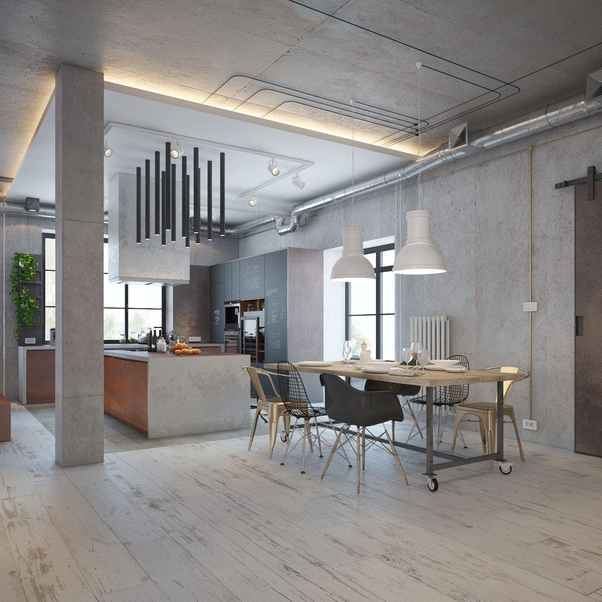 Warm Dark Living Room Design
