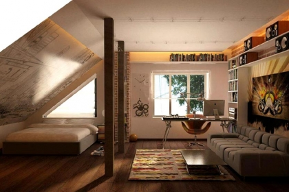 Low-Ceiling-Attic-Bedroom